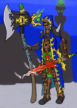 Chaos sorcerer with Demon Sword by kkr682