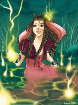 Aeris in the Lifestream by falcon-chan