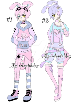 Pastel goth bunny adoptables closed by AS-Adoptables
