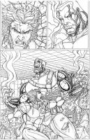 ULTIMATE X-MEN WOLVERINE AND COLOSSUS PAGE 003 by nathanscomicart