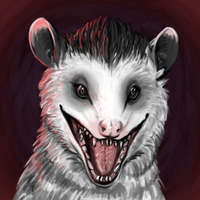 Possum smiles by ToothlessEgo