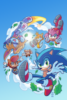 Sonic #279 Variant (Summer Re-Color) by Ziggyfin