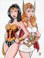 Wonder Woman She-Ra Commission by calslayton