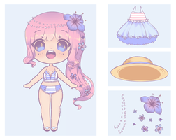 Adopt [1] beach hat - CLOSED by Zilverlovely