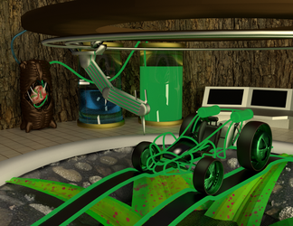 Dart frog car garage by ScaroDj