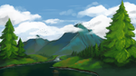 Mountain Landscape by aamatniekss