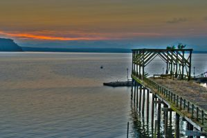 Old Dock Before Dawn by MogieG123