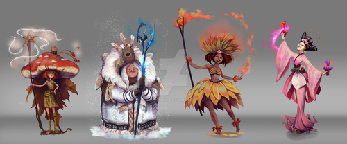 Season witches by KuroCyou