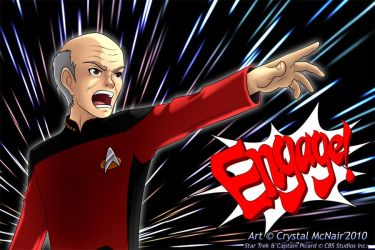 Captain Picard - Engage by Kojichan