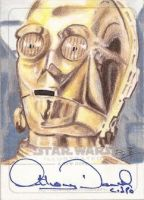 Star Wars Illustrated ANH - C3PO Sketchagraph by DenaeFrazierStudios