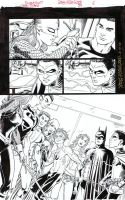 TEEN TITANS 89 Pg 6 - All the TITANS Plus Batman! by DRHazlewood