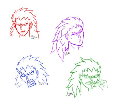 Gajeel sketches by TaminFury