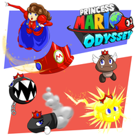 Princess Mario Odyssey - Captures #1 by FieryJinx