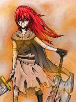 Red Head Warrior by lalainelucero