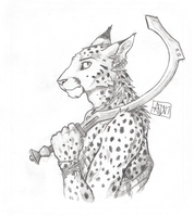 ''Daily'' sketch - Cat with Sword. by 0laffson