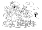 Halloween Pumpkin Princess Lineart