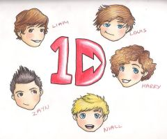 One Direction Chibis by TheMuzbo