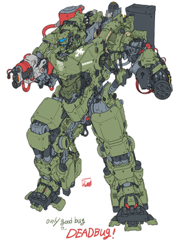starship troopers marauder suit by obokhan