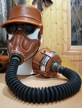 Altitude mask, kepi and goggles in natural tan by AmbassadorMann