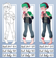 Commissions Sheet- OPEN by Mars-Arts