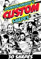 Free 30 Custom Shapes by donkolondoy