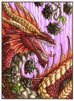 Hellfyre ACEO (black roses) by Sunima