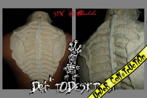 Der TODESKING Bone Spine plate by crudelia