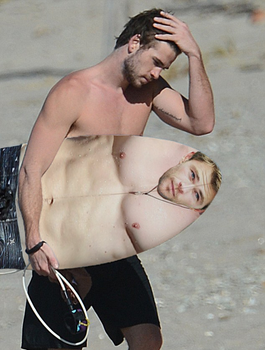 Liam Hemsworth and Chris surfboad by DukePM