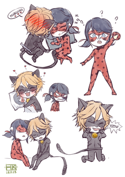miraculous ladybug  sketch by 222452
