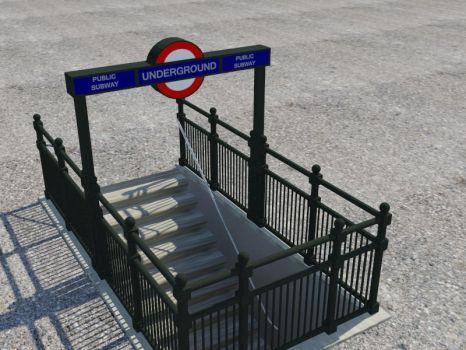 London Underground Entrance by OceansCurse
