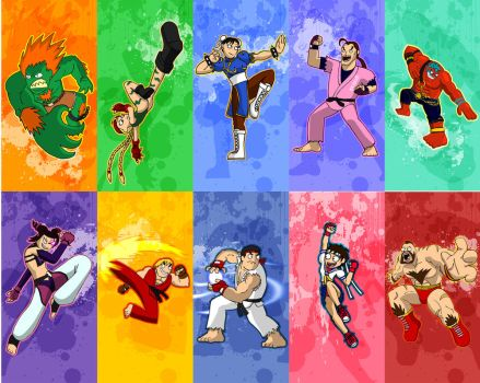 Street Fighter characters pt 1 by Zoolon