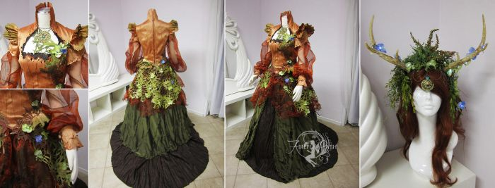 Mother Earth Original Gown and Headdress by Firefly-Path