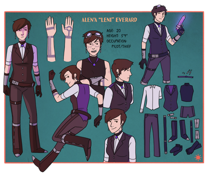 Leni Character Sheet by Teslaverian