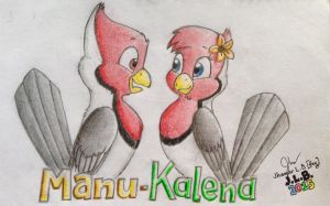 Manu x Kalena (NEW) by SammfeatBlueheart