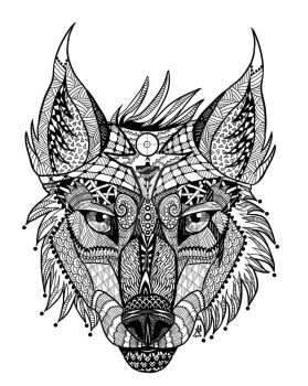 Zen Wolf by lupinemoonfeather