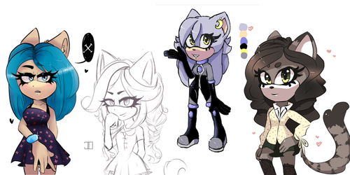 Annoying adopts (closed) by city-galaxies