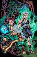Book of Lyaxia: Adonis and Deimos Colors by CdubbArt