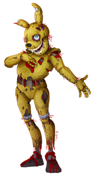 Commission: Springtrap by C-Puff