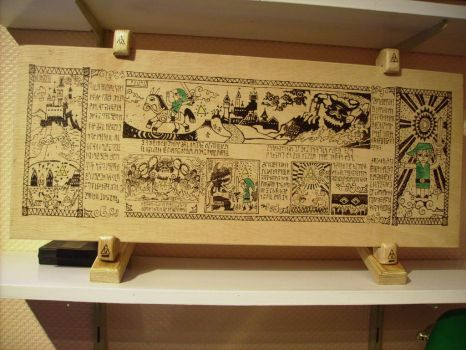 The Legend of Zelda in pyrography by tokita59