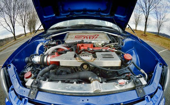 Absolutely Raw - Tucked and Shaved Engine Bay by melodicnitemare