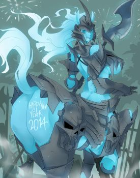 Happy new year 2014 by Exaxuxer