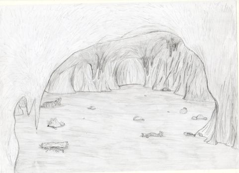 Concept Art: Crab Cave by MiguelTheSniper