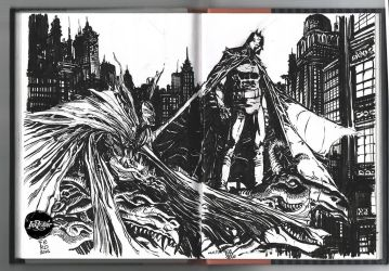 Batman Spawn Inktober day 2 and 3 by Fpeniche