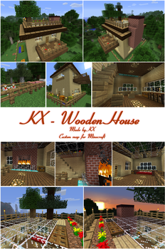 KX_Wooden House for Minecraft [DL] by DiemDo-Shiruhane