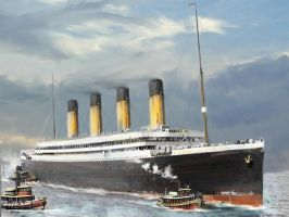 RMS Olympic in New York by zulumike