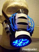 'Digital Future' cybernetic plasma gas mask by TwoHornsUnited