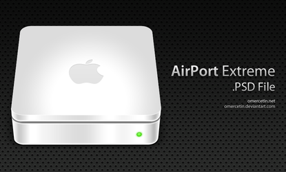 AirPort Extreme PSD File by omercetin