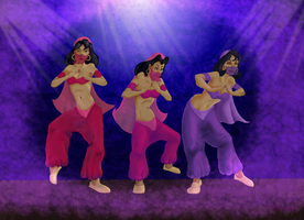 Dance of the Parlor Girls by BluTaiger