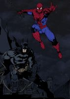 Batman and Spider-Man by Abu-Bakr-Kalam by edCOM02