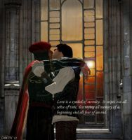 Ezio/Leo-Sunset by lizathehedgehog